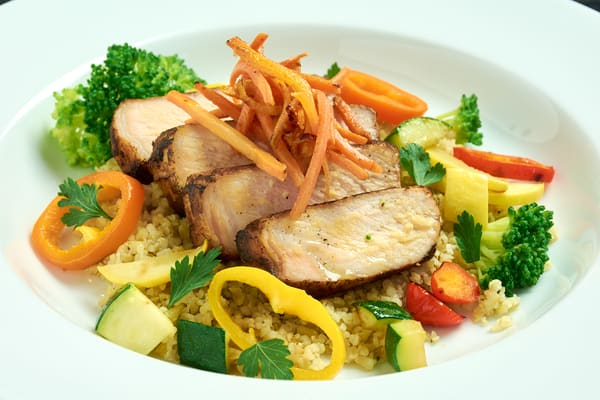 Sous vide pork freekeh bowl 8