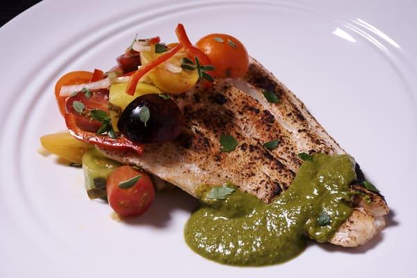 Sous vide halibut chimichurri sauce 5