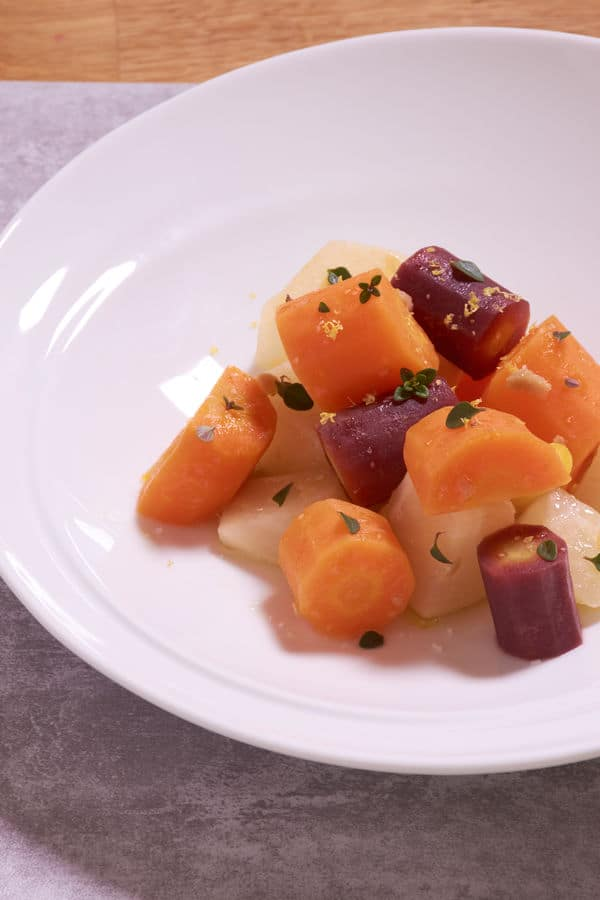 Sous vide root vegetables 6
