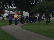Minion leading the walk