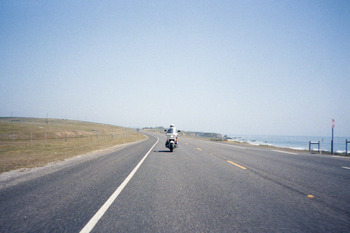 Open road and the ocean
