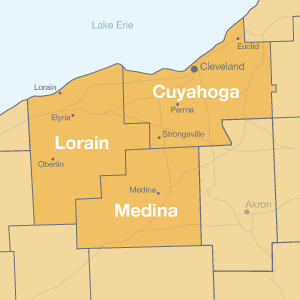 Cuyahoga, Lorain and Medina