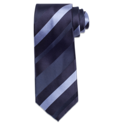 Blue Tri-Colored Stripe Tie