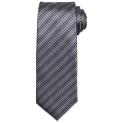 Grey Polk-A-Dot Tie