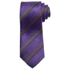 Purple Corporate Stiff Tie