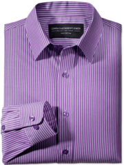 Merger Purple &amp; White Striped Button-Up Woven