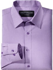 Consultant Purple Mini Gingham Check Button-Up Woven