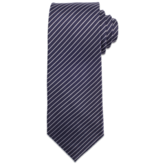 Navy with White Pinstripe Tie