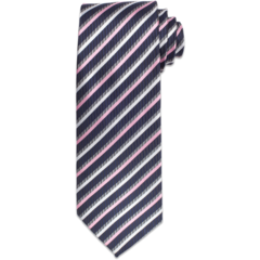Black, Pink, &amp; White Stripe Tie