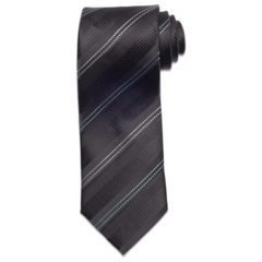 Black with Textured Striping Tie