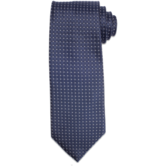 Navy Polk-A-Dot Tie