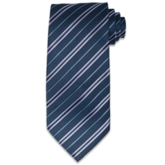 Dark Topaz &amp; Silver Striped Tie