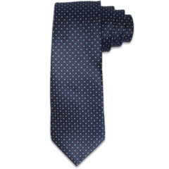 Navy Textured Polk-a-Dot Tie
