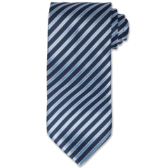 All Business Blue Striped Tie