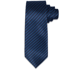 Navy and Electric Blue Woven Tie