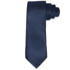 Navy with Tonal Polk-a-Dots Textured Tie