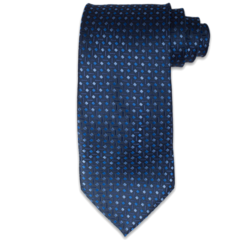 Navy Diamond Textured Tie