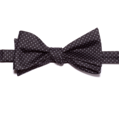 Black w/ White Polk-a-Dots Bow Tie