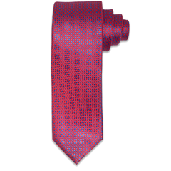 Royal Red & Blue Lightning Pattern Tie