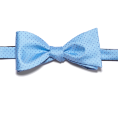 Sky Blue Polk-a-Dot Bow Tie