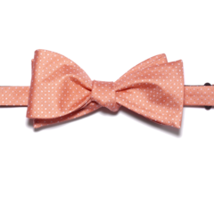 Peach Polk-a-Dot Bow Tie