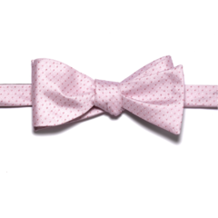 Pink Polk-a-Dot Bow Tie