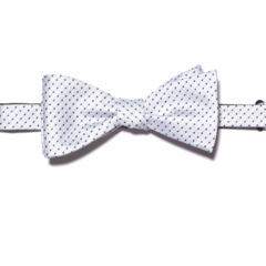 White with Black Polk-a-Dots Bow Tie