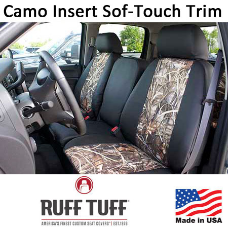 Camo Pattern Inserts With Sof-Touch Trim Seat Covers