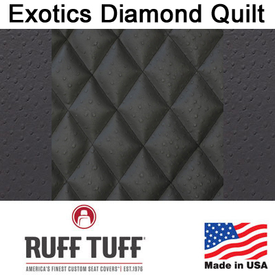 Exotics Diamond Quilt Insert With Exotics Trim Seat Covers