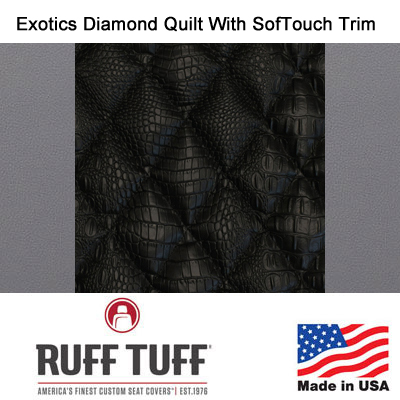 Exotics Diamond Quilt Insert With Sof-Touch Trim Seat Covers