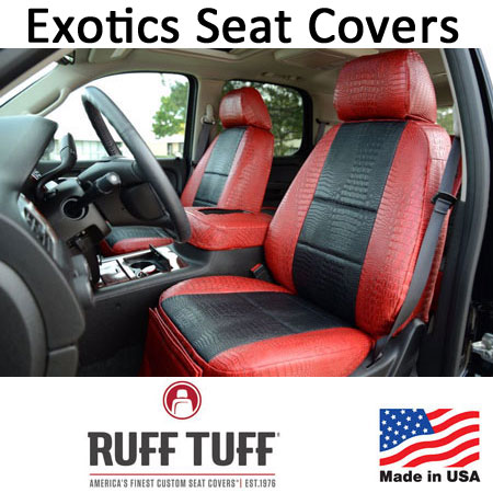 Exotics Simulated Animal Skin Seat Covers