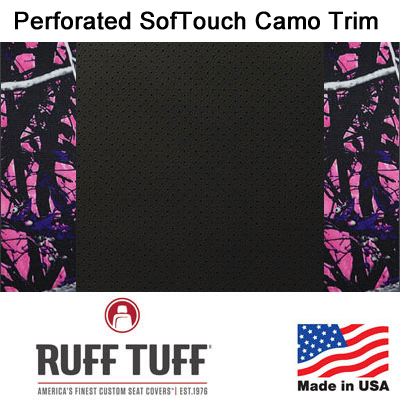Perforated Sof-Touch Diamond Quilt Insert With Camo Pattern Trim Seat Covers