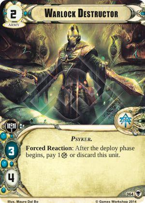 W40KC - IET: THE SIEGE OF TERRA : Dédicaces de cartes 064-warlock-destructor