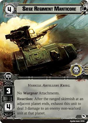 [Navida Prime Cycle] Promise of War - Warpack #1  009-siege-regiment-manticore
