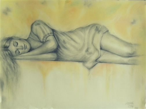 Calm<br>Graphite on Paper, Drawings