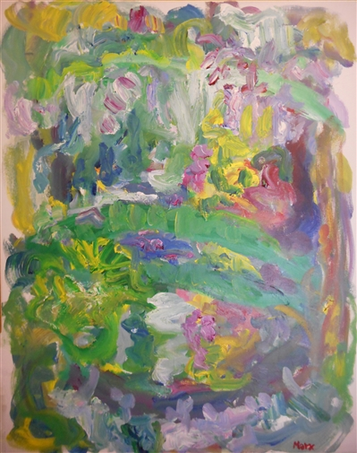 Monet's Japanese Bridge with Wisteria, Giverny<br>Acrylic on Canvas, Paintings