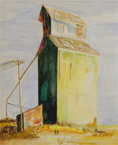 High Plains Silo<br>Watercolor on Paper, Paintings
