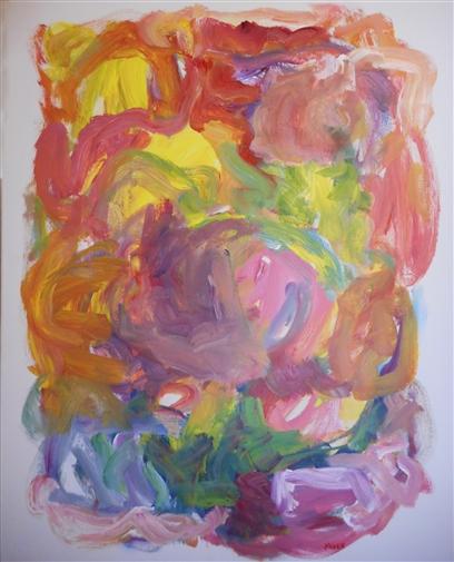 Sun in the Garden<br>Acrylic on Canvas, Paintings