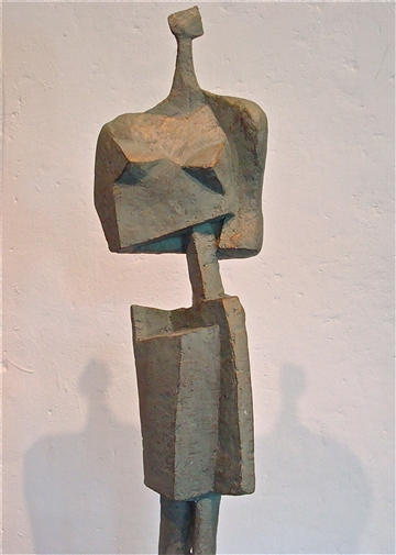 She<br>Stone with Bronze Coating, Sculpture