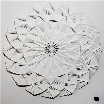 Jacky Cheng - Dharma Wheel Paper, Mixed Media