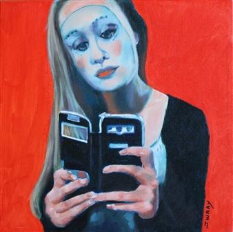 Johanna Wray - Snapchat Acrylic & Oil on Canvas, Paintings