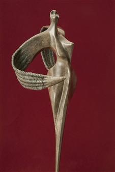 Maria Bayardo - Woman with Wings Bronze, Sculpture