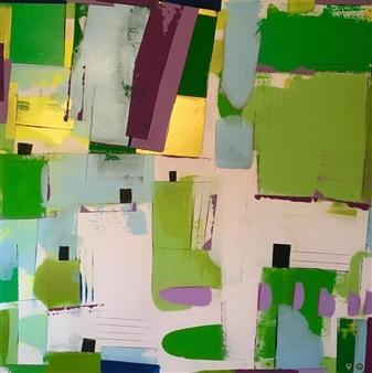 Annika Carlsson - Where the Sun Shines Like Gold Acrylic on Canvas, Paintings