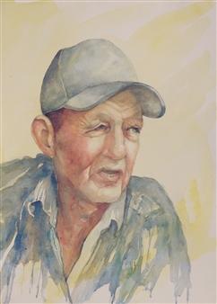 Pauli Zmolek - Smith Island Waterman Watercolor on Paper, Paintings