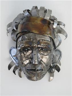 Lida Boonstra - Rock'n Roll Hero Unicum in Steel, Sculpture