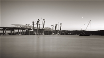 Chet B. Simpson - Tappan Zee Bridge III Black & White Digital Photography on Hahnemuhle Cotton Paper, Photography