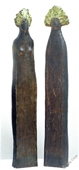 Yetty Elzas - Daphnis & Chloë Bronze, Sculpture