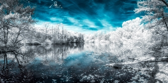 Karl Girardet - Infrared World Photograph on Metallic Paper, Photography