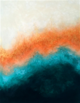 Mark Reese - Waves Acrylic on Canvas, Paintings