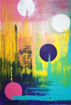 David J. Marchi - Dots Acrylic on Canvas, Paintings
